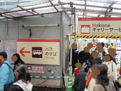 箱根湯本駅バス乗場案内看板
